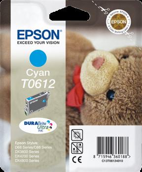 Tinteiro cyan Epson original T0612 - C13T06124010
