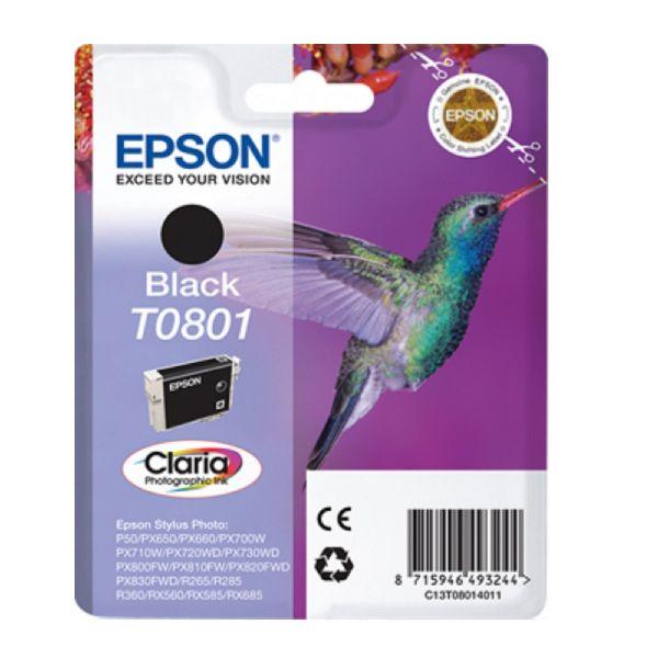 Tinteiro original Epson preto T0801 - C13T08014020