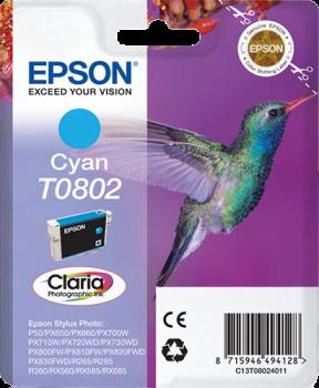 Tinteiro original Epson cyan T0802 - C13T08024020