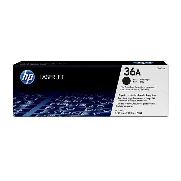 Toner HP original preto 36A - CB436A