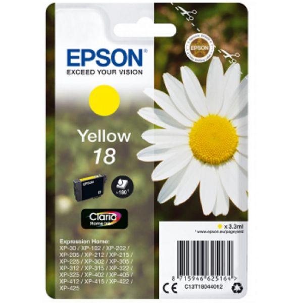 Tinteiro original Epson amarelo 18 - C13T18044010