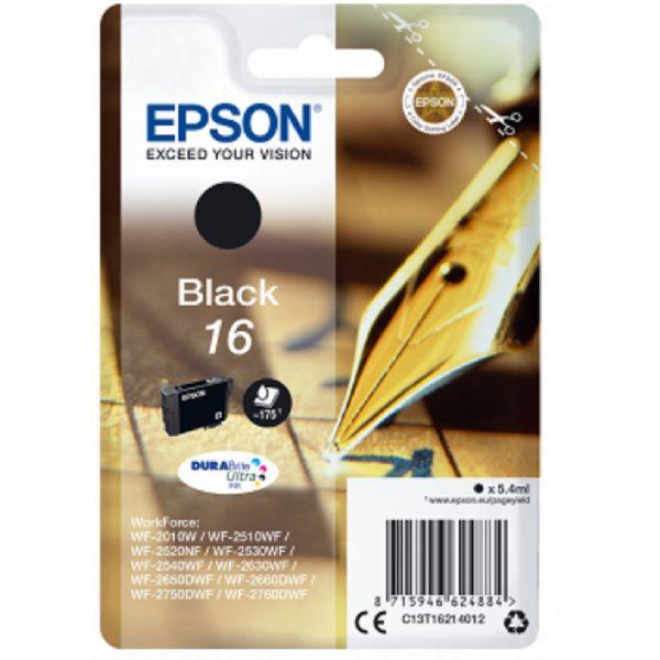 Tinteiro original Epson preto 16 - C13T16214010
