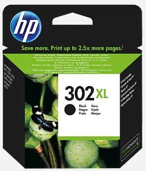 Tinteiro original HP preto nr 302XL - F6U68AE