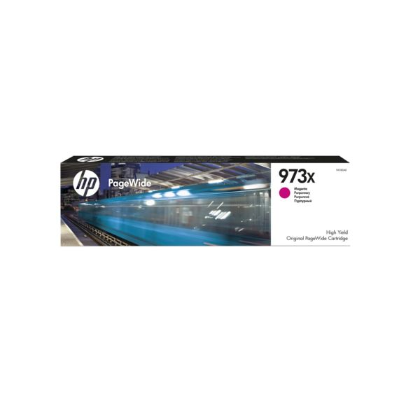 Tinteiro original HP PageWide Magenta 973X - F6T82AE