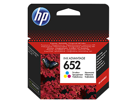 Tinteiro original HP cor 652 - F6V24AE