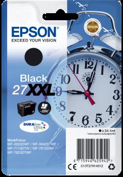 Tinteiro original Epson preto 27XXL - C13T27914010